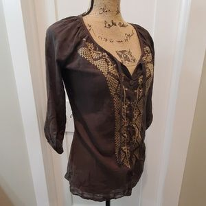 NWT Daytrip button down top size small